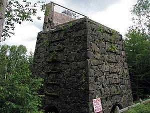 National Register of Historic Places listings in Essex County, New York - Image: Adk Iron and Steel, 1854 Blast Furnace