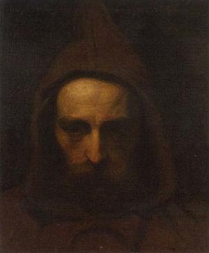 Adolf Eybel - Portrait of a man dressed as a monk