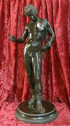 A 19th-century reproduction of a Greek bronze of Adonis found at Pompeii