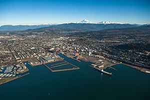 Bellingham, Washington - Image: Aerial View of Bellingham, Washington
