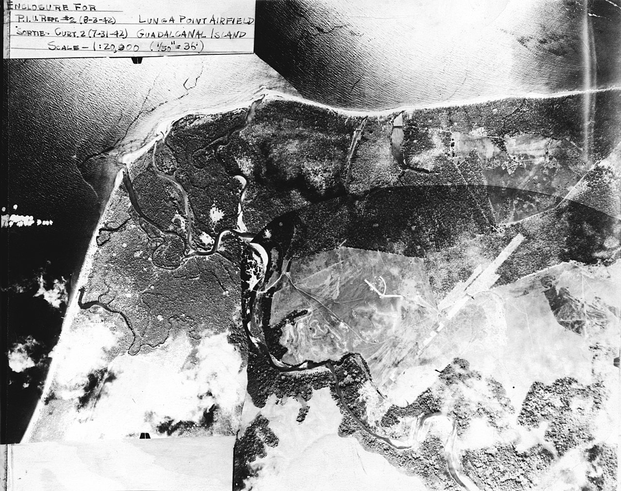 file aerial reconnaissance photo of lunga point