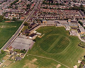 The King John School - Aerial view, 1987