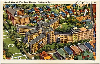 Western Pennsylvania Hospital - Image: Aerial view of West Penn Hospital, Pittsburgh, PA (61403)