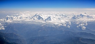 Gandaki Pradesh - Image: Aerial view of the Annapurna massif Nepal panoramio