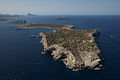 Aerial view of the island of Sa Conillera, near St. Antoni de Portmany.jpg