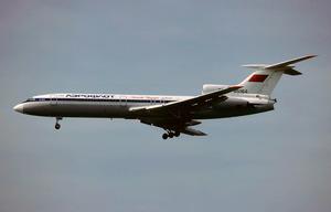 Aeroflot Flight 3739 (1988) - Aeroflot Tupolev Tu-154B, similar to that involved in the accident
