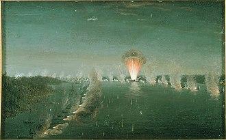 Battle of Björkösund - Affären vid Björksund, 1790 by Johan Tietrich Schoultz