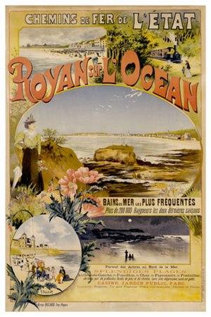 Gustave Fraipont - Image: Affiche Etat Royan Océan