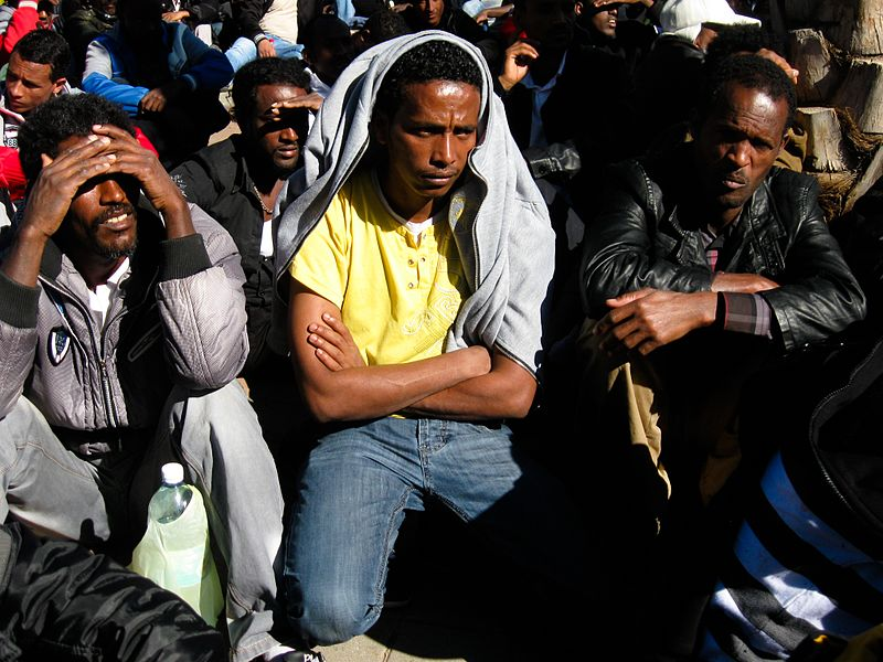 File:African refugees in Israel 3.jpg