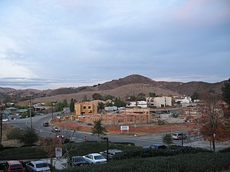 Historic Quarter, Agoura Hills, California - Construction of low rise office buildings in the Historic Quarter, with the Simi Hills in background.