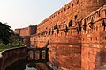 Agra Fort-Walls and left ditch-20131018.jpg