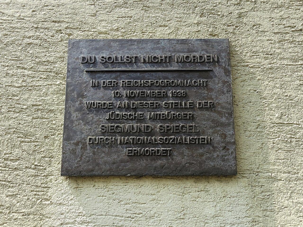 Ahlen - Gedenkplakette für Siegmund Spiegel.jpg