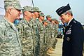 Air Force Chief of Staff Gen. Norton Schwartz meets with Airmen during the C-130J Super Hercules induction ceremony at Hindon Air Force Station.jpg