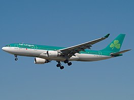 In Airbus A330-202 fan Aer Lingus