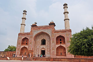 Akbars tomb an important Mughal architectural masterpiece located in sikandra Agra