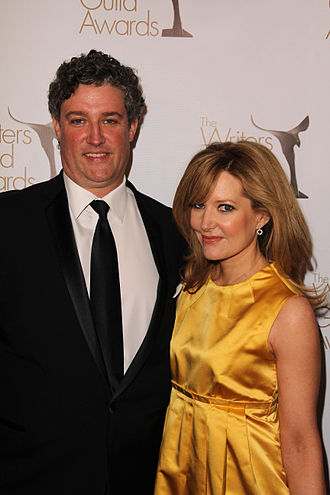 Stephanie Gillis - Gillis and Al Jean at Writers Guild of America Awards.