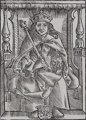 Alexander Jagiellon - Engraving of Alexander, 1521