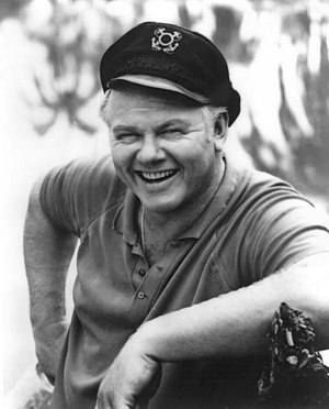 Alan Hale Jr. as the Skipper Alan Hale Jr. Gilligans Island 1966.JPG