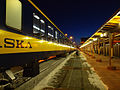 Alaska Railroad train arrives at Fairbanks station.jpg