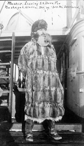 Mushing - An Alaska musher in 1909