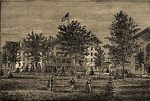 Albion College - 19th-century drawing of Albion College