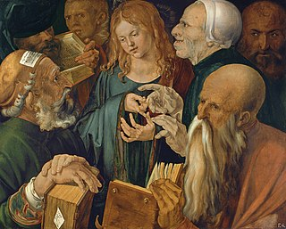 <i>Christ among the Doctors</i> (Dürer) painting by Albrecht Dürer