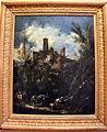Alessandro magnasco, la mulattiera, o paesaggio con castello, 1710 ca..JPG
