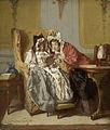 Alexander Hugo Bakker Korff - Twee dames bij het beschouwen van een schilderijtje.jpg
