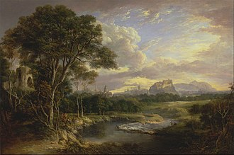 Mary Somerville - View of the City of Edinburgh by Alexander Nasmyth, Mary spent the winters in Edinburgh and attended Nasmyth's academy