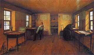View the Artist's Studio on the Barge Chernetsov in Their Journeys along the Volga in 1838