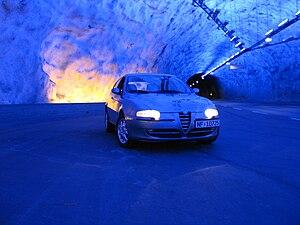 Lærdal Tunnel - Image: Alfa Romeo 147 tunnel