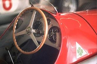 Alfa Romeo Quadrifoglio - Quadrifoglio badge on the Alfetta 159