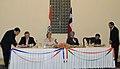 Alfonso Silva and the Secretary, Ministry of New and Renewable Energy, Shri Deepak Gupta signing the Memorandum of Understanding on Cooperation in the field of New and Renewable Energy between the Ministry of New and.jpg