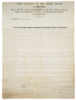 Alien and Sedition Acts series of Acts of Congress