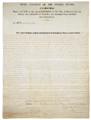 Alien and Sedition Acts - Text of the Aliens Act