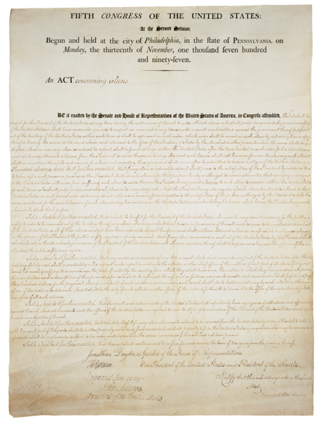 an analysis of the alien and sedition act from different perspectives The alien and sedition acts were four bills passed by the federalist-dominated  5th united  the sedition act resulted in the prosecution and conviction of many   subsequent mentions in supreme court opinions beginning in the mid-20th.