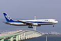 All Nippon Airways, NH974, Boeing 767-381ER, JA613A, Arrived from Shanghai, Kansai Airport (17001852419).jpg