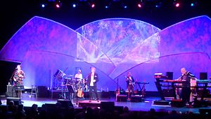 Yes Featuring Jon Anderson, Trevor Rabin, Rick Wakeman - ARW performing in 2016. Left to right: Trevor Rabin, Lou Molino III, Jon Anderson, Lee Pomeroy, Rick Wakeman.