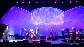 ARW performing in 2016, from left to right: Trevor Rabin, Lou Molino III, Jon Anderson, Lee Pomeroy, Rick Wakeman.
