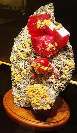 """Rice Northwest Museum of Rocks and Minerals - The """"Alma Rose"""" rhodochrosite"""