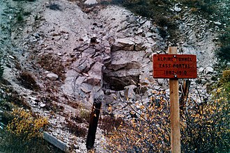 National Register of Historic Places listings in Gunnison County, Colorado - Image: Alpine tunnel eastportal 2001