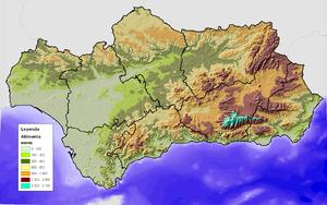 Relieve de Andaluca  Wikipedia la enciclopedia libre