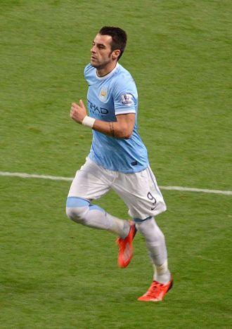 2013–14 Football League Cup - Image: Alvaro Negredo MCFC