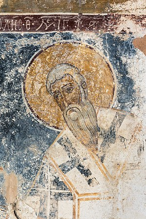 Byzantine fresco in the little church of Agia Anna (Αγία Άννα), Amari Valley, Crete