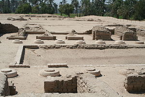 Northern Palace (Amarna) - Ruins of the North Palace, showing reconstruction and restoration