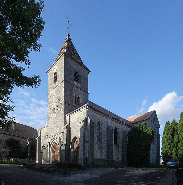 Église d'Amathay-Vésigneux (Doubs).