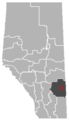 Amisk, Alberta Location.png