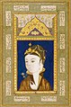 An Illustrated and Illuminated Album Page; A Portrait of a Princess, Persia, Safavid, dated 1528 AD.jpg