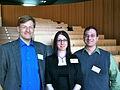 Anders Sandberg, Suzanne Gildert and Randal Koene.jpg