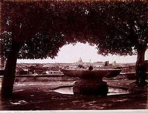 Villa Medici - The fountain in the 19th century